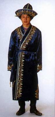 Kazakhstan people national clothes: man's costume