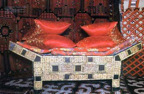 Kazakh people private life things - beds