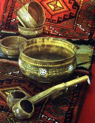 Kazakh people private life things - pots and pans