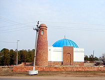 Akkol city mosque view