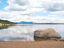 Akmola region lake scenery