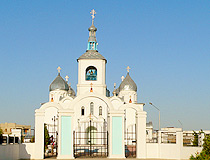 Aktau city church view