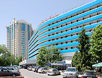 Almaty city hotel view