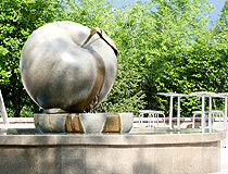 Almaty city symbol apple
