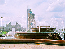 Astana city fountain view