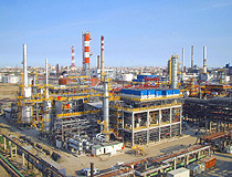 Atyrau city oil refinery