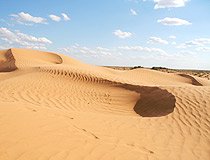 Atyrau oblast sands view