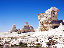 Atyrau region rocks scenery
