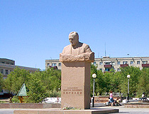 Baikonur city Korolyov monument