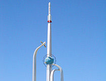 Baikonur city space theme monument