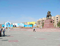 Balkhash city central square