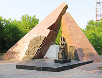 Karaganda city miners memorial