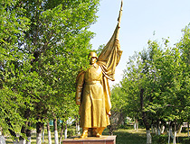 Karaganda city Soviet soldiers monument