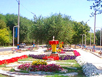 Kentau city, Kazakhstan scenery