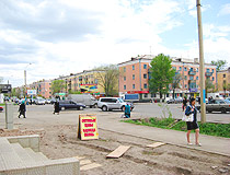 Kokshetau city street view
