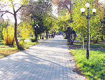 Kokcetav city scenery