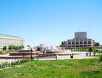 Kyzylorda city central square