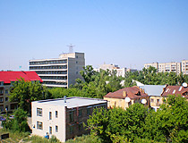 Oskemen city, Kazakhstan view