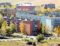 Ridder city, Kazakhstan view