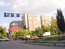 Semey city street view