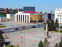 Uralsk city central square