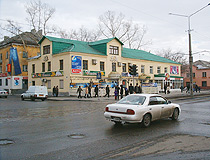 Ust-Kamenogorsk city street view